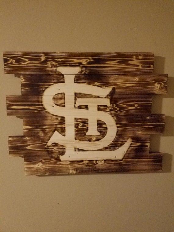 st louis cardinals wall art rustic wall art wood burn sign. Black Bedroom Furniture Sets. Home Design Ideas