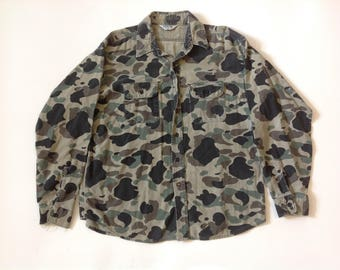 Vintage duck camo button up shirt by Five Brother