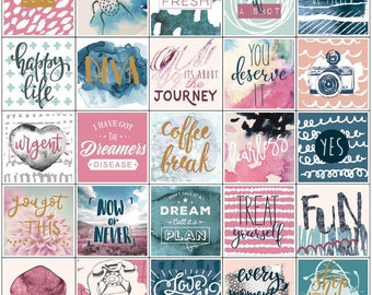 Prima Planner Stickers - 3 sheets 157 pieces - Inspirational
