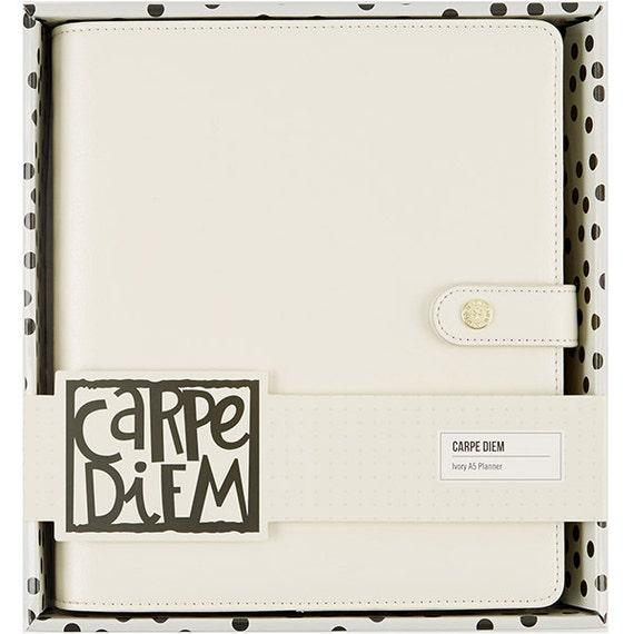 Carpe Diem A5 Planner Binder Only Ivory Simple Stories