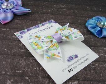 Pinwheel Hair Bow Clip - Tinkerbell