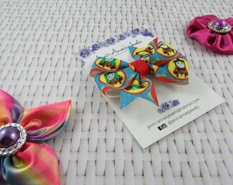 Pinwheel Hair Bow Clip - Thomas