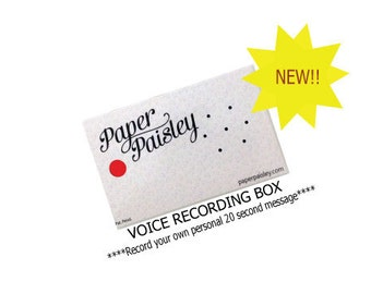 Voice Recording Box/Care Package/Military Care Package/Missionary Care Package/Greeting Card/Deployment/