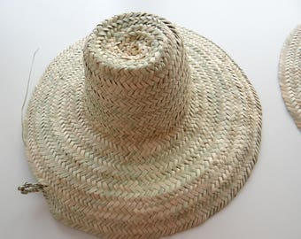 Natural LARGE Hat - Hat - straw hat - Palm straw hat