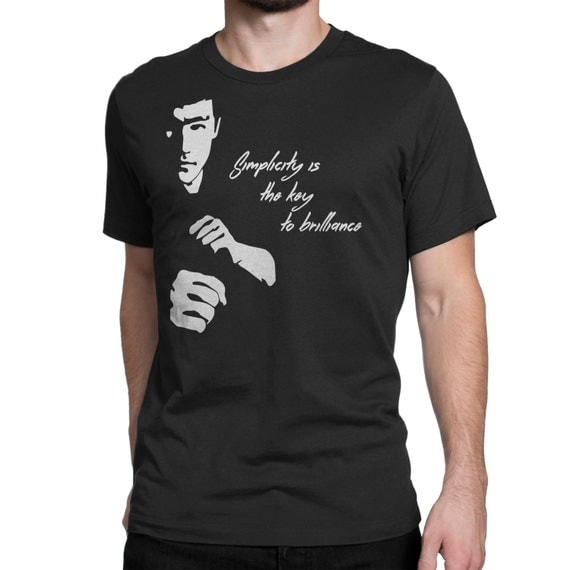 Bruce Lee Shirt with Quote