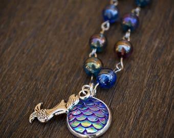 Purple Mermaid Necklace