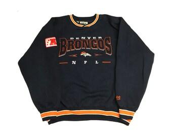 Denver Broncos Crew Neck Sweatshirt Size (Large)