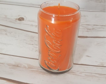 coca cola candle etsy. Black Bedroom Furniture Sets. Home Design Ideas