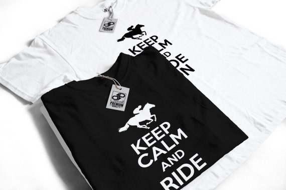 Keep Calm and Ride On - Horse Riding T-Shirt