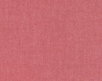 Strawberry Interweave Cotton Chambray Fabric 44Wide- Robert Kaufman