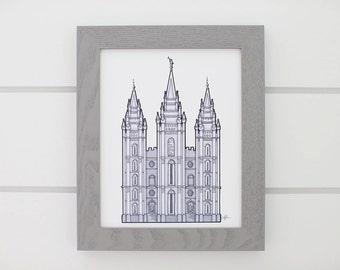 Salt Lake Temple Drawing