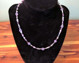 Violet Waters Bead Glass Necklace