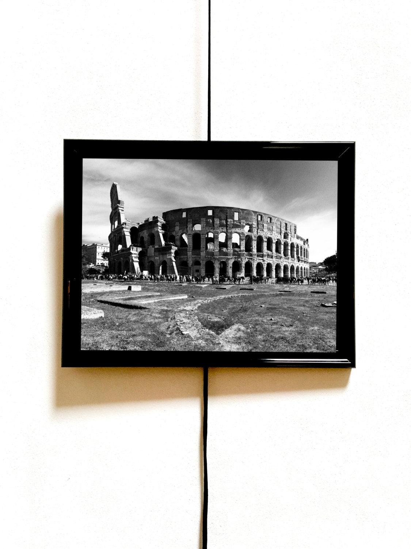 Foto in bianco e nero del colosseo di roma da stampare e for Colosseo da colorare