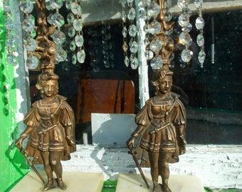 Marble base candle sticks,Art Deco Candle Sticks,Female Warrior,Joan of Arc,Reflective crystal candle sticks,Period Candle sticks,Romance