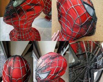 spiderman face shell etsy