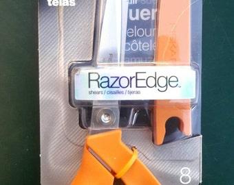 "8"" Fabric SCISSORS, cutter, cutting edge, craft tool, fabric cutter, razor, stainless steel, hobby, shears, Fiskars scissors"
