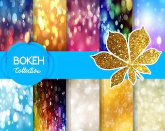 Bokeh Digital Paper, Dots digital paper, Circles paper, Bokeh backdrop, Bokeh background, Circle background, Bokeh prop, Digital download