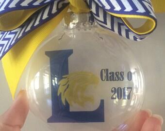 Custom Christmas Ornament School Logo Personalized
