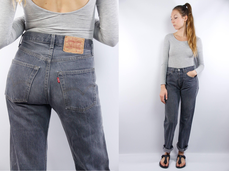 vintage levis 501 levis 501 grey levis mom jeans. Black Bedroom Furniture Sets. Home Design Ideas