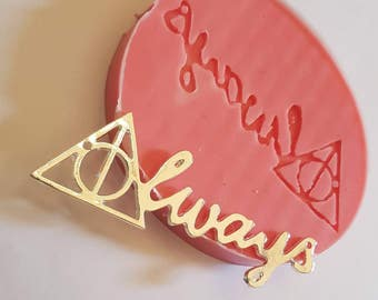 "Flexible silicone mold with ""Always"" from Harry Potter!"