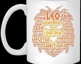 Zodiac Leo Birth Sign Coffee Mug Star Horoscope Greek Astrology Lion Cup