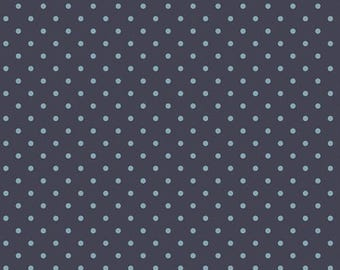 NEW Les Petits by Amy Sinibaldi for Art Gallery Fabrics-Dots Blue on Navy-Basic Fabric