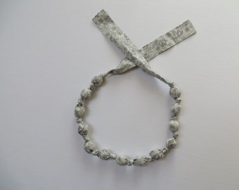 Morning Mist Fabric Necklace