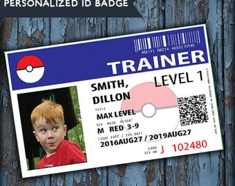 Pokemon, pokemon party favors, pokemon gifts, pokemon party, pokemon go, pokemon trainer card, pokemon printable, pokemon trainer id, favors