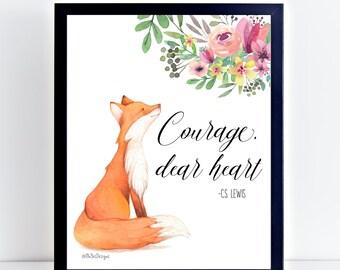 Woodland Nursery - Fox Print - Fox Wall Art - Woodlands Fox - Forest Animal Print - Fox Art Print - Fox Nursery Print - Fox Poster