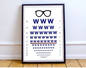 Chicago Cubs Poster - Fly the W Wall Art - Baseball Fan Poster - Chicago Cubs Art Print, World Series 2016 - Eye Chart Poster - Cubs Fan