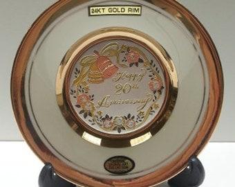 The Art of Chokin 20th Anniversary Plate