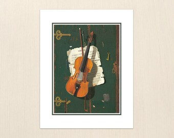 The Old Violin by John Frederick Peto - Art Paintings from the 1800s - Archival Giclee Art Painting Prints