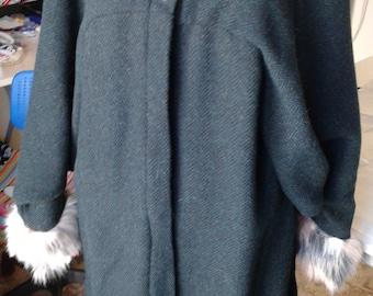 Autumn hand made wool coat