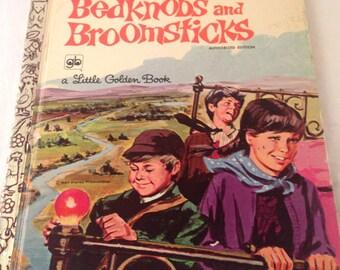 Vintage Walt Disney/Little Golden Book/Walt Disney/Bedknobs and Broomsticks/craft supply/paper crafting/1966/CLEARANCE