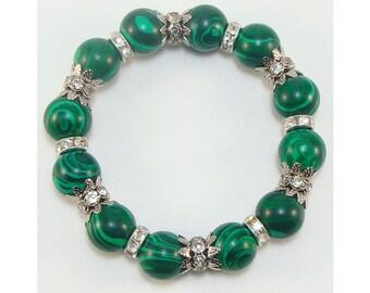 Malachite bracelet (handmade)(B11-11)