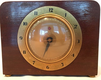 "Vintage 1937-1938 Mid Century General Electric 7H82 ""The Sophist"" Alarm Clock - Working Condition!"