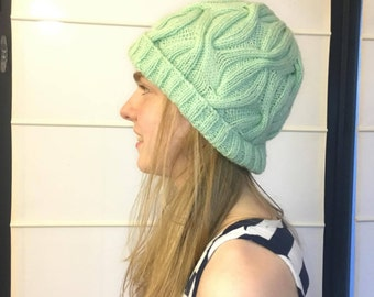 Mint Cable Beanie