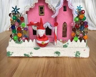Pink Gumdrop Putz House
