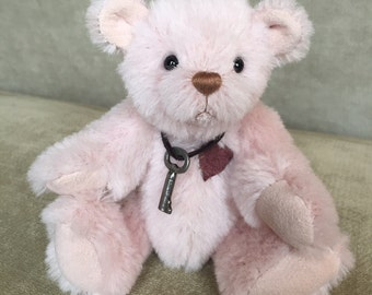 Petunia - artist made, handmade, mohair, teddy bear, collectible, one-of-a-kind