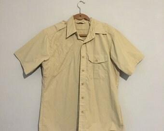 Vintage Duxbak Khaki Shirt - Large