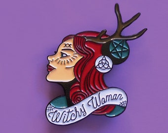 Witchy Woman Enamel Pin
