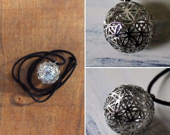 Hollow Flower of Life Bead Necklace