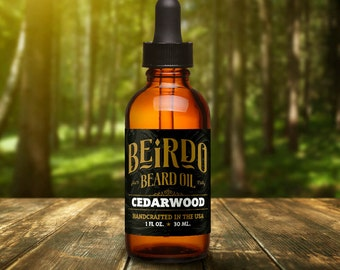 Beard Oil / Cedarwood / 1 oz. / beard oil / beard balm / manly scent / beard care / gifts for men / gifts for him / mens grooming / Beirdo