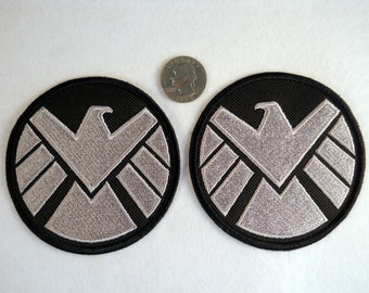 S.H.I.E.L.D  Shield iron-on/sew-on patch or shoulder badge - Embroidered