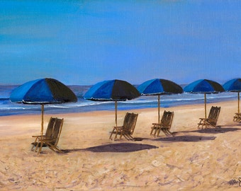 A Day At The Beach, Signed, Fine Art Print, Home Decor