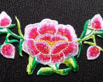 Embroidered Flower Applique Iron On Patches 2 x 6 inch