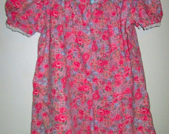 Hand made pink floral pattern dress