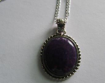 Sterling Silver Amethyst gemstone necklace