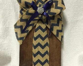 Fabric Cross Wood Chunk #2