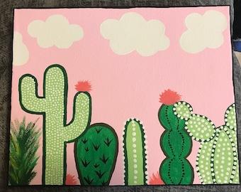 Cute Cactus Canvas